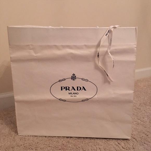 10bfd27a41cf Prada Bags   Large Paper Shopping Bag   Poshmark